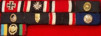 57 ribbon bar Navy 9 Place with Photo of original wearer
